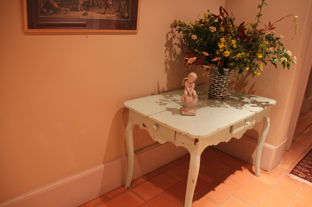 "The ""chippy"" table in the Chateau de Roussan."